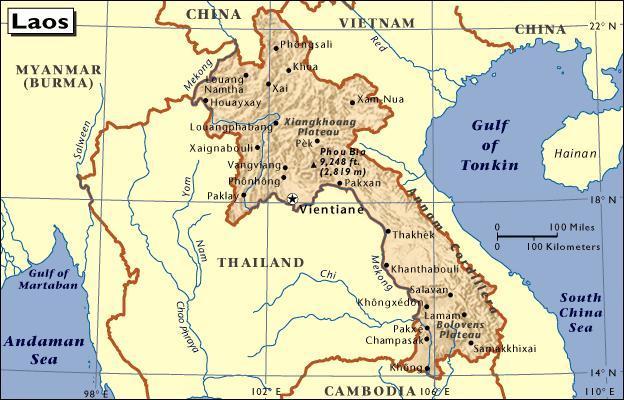 Carte Du Monde Laos.Le Tour Du Monde De Guillaume Laos